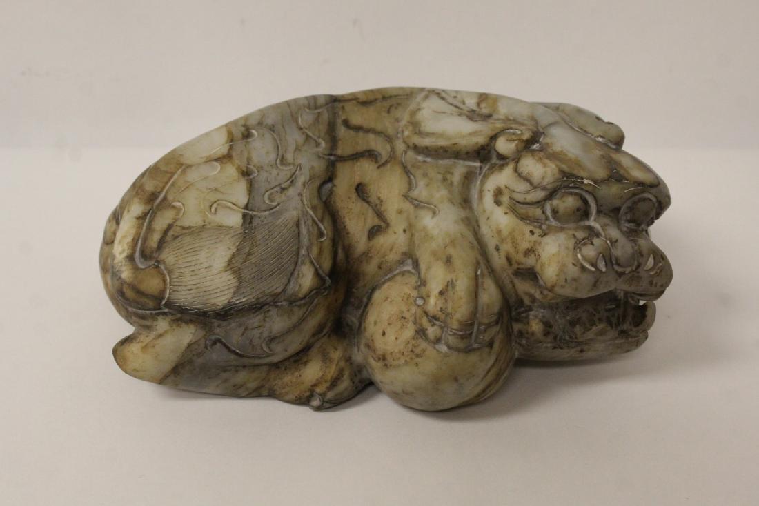 A fine Chinese stone qilin