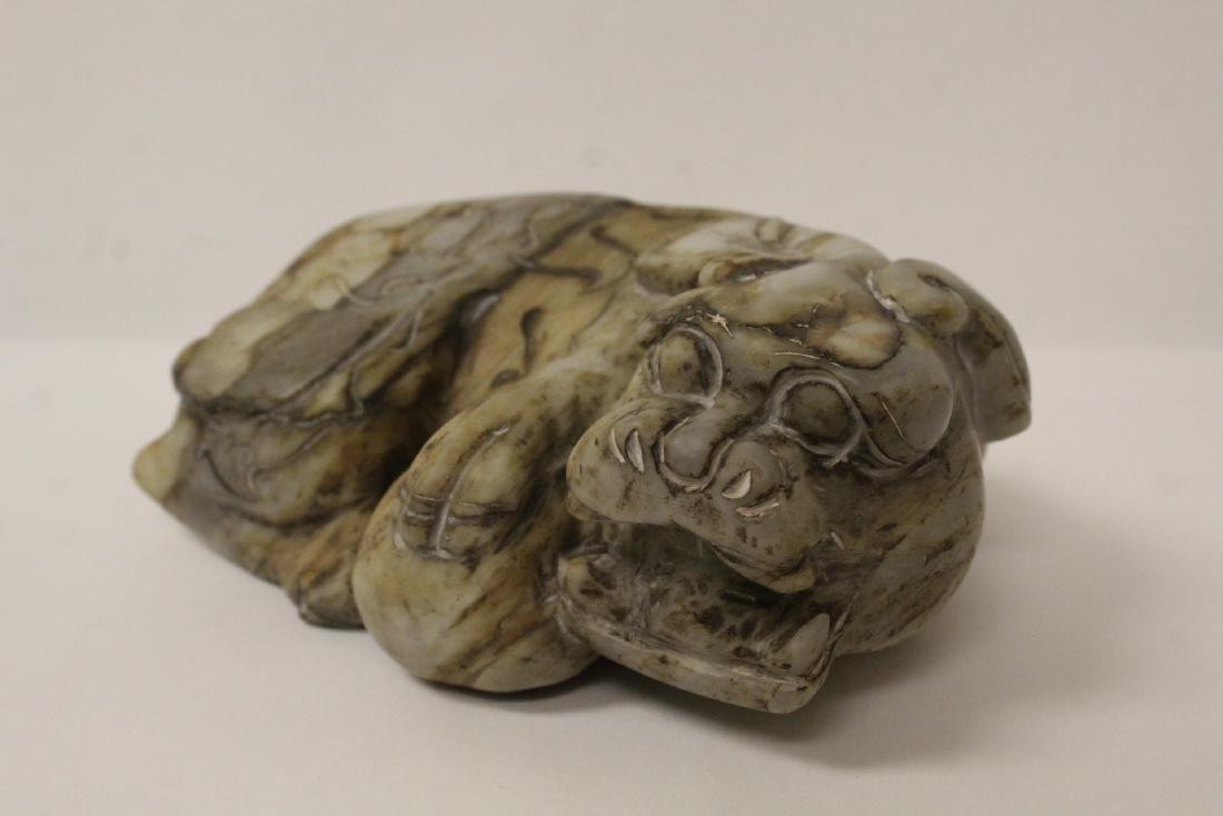 A fine Chinese stone qilin - 3