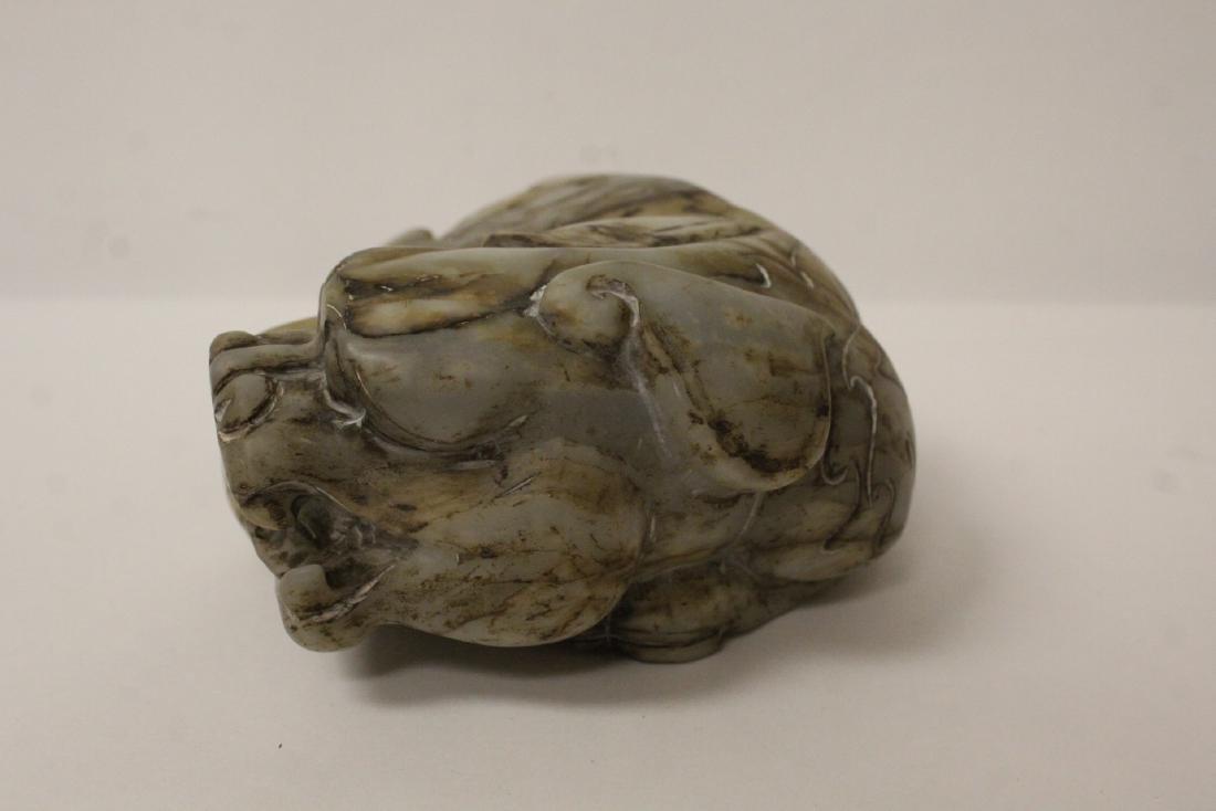 A fine Chinese stone qilin - 4