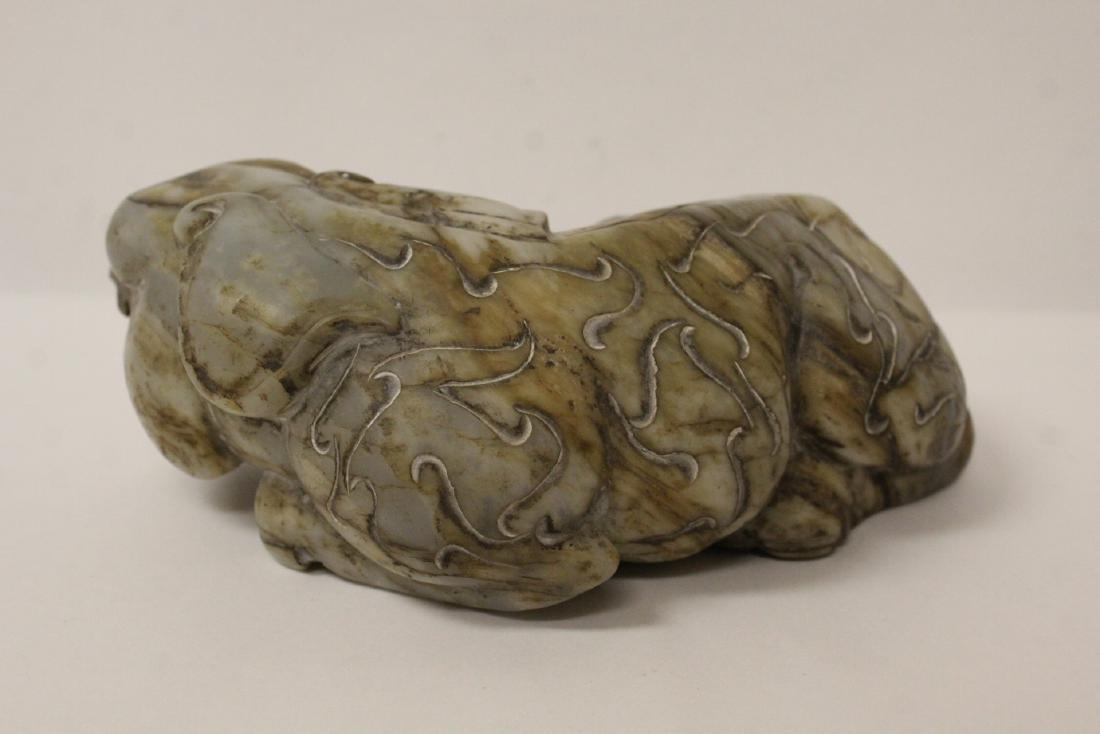 A fine Chinese stone qilin - 5