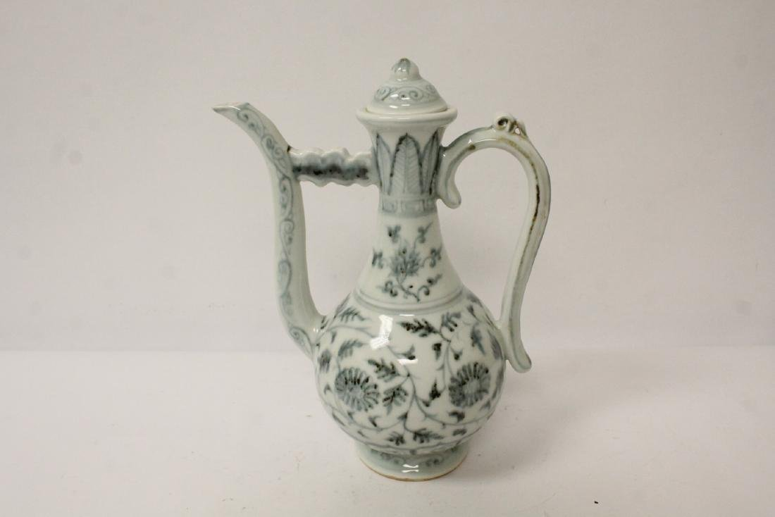 Chinese blue and white wine server