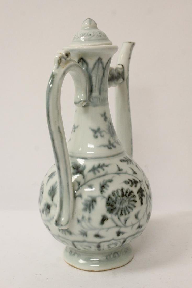 Chinese blue and white wine server - 6