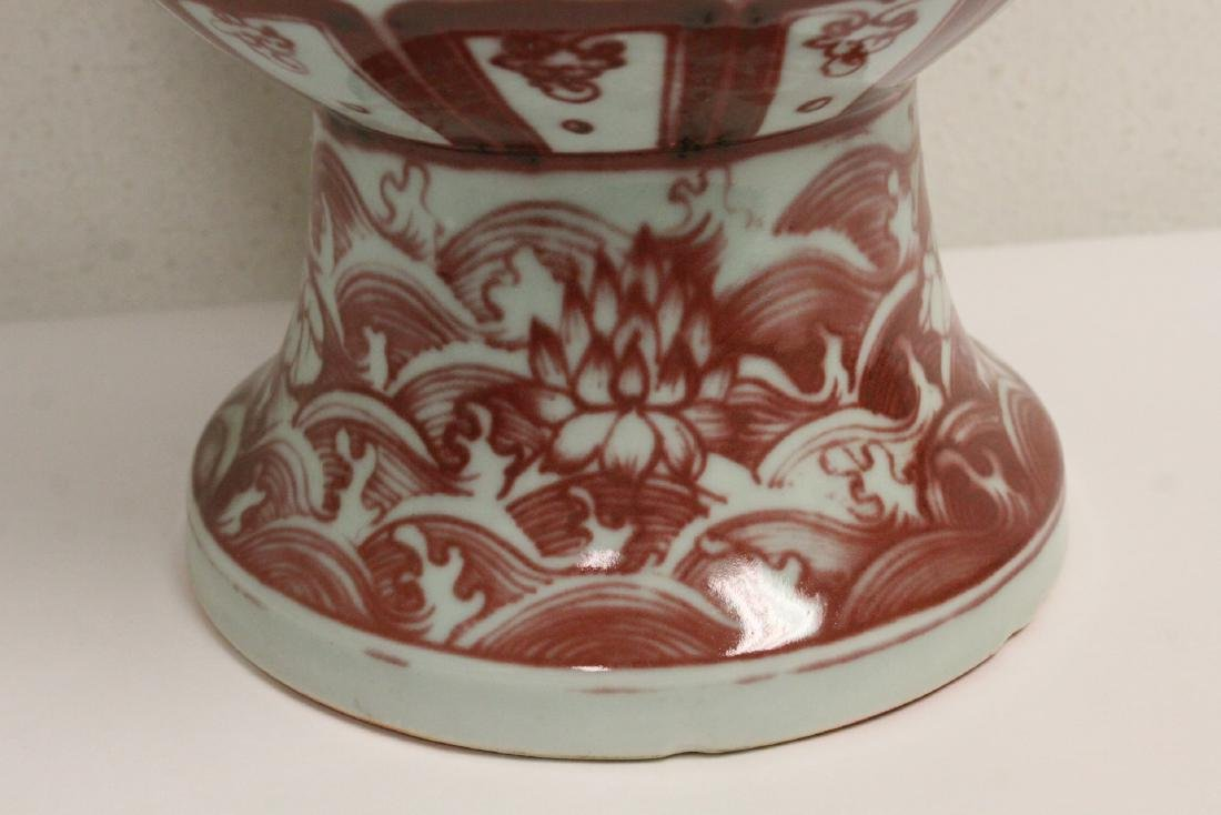 Chinese large red and white vase - 10