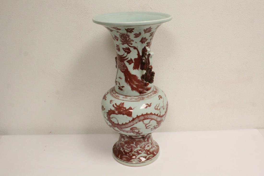 Chinese large red and white vase - 5