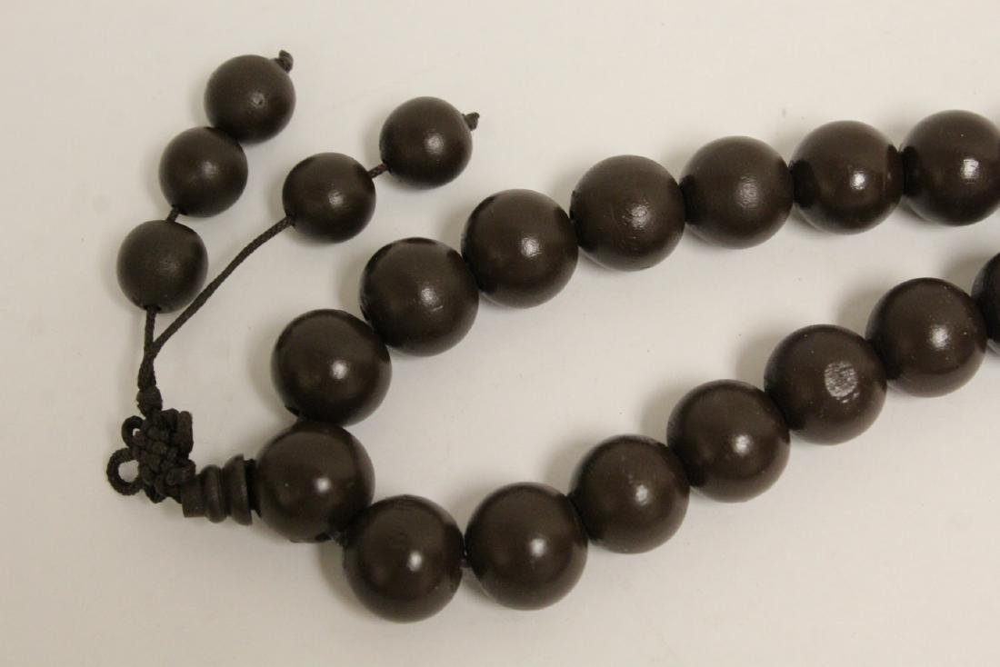 2 large wood bead and very long necklaces - 10
