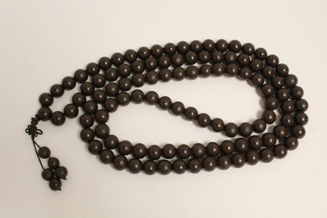 2 large wood bead and very long necklaces - 6