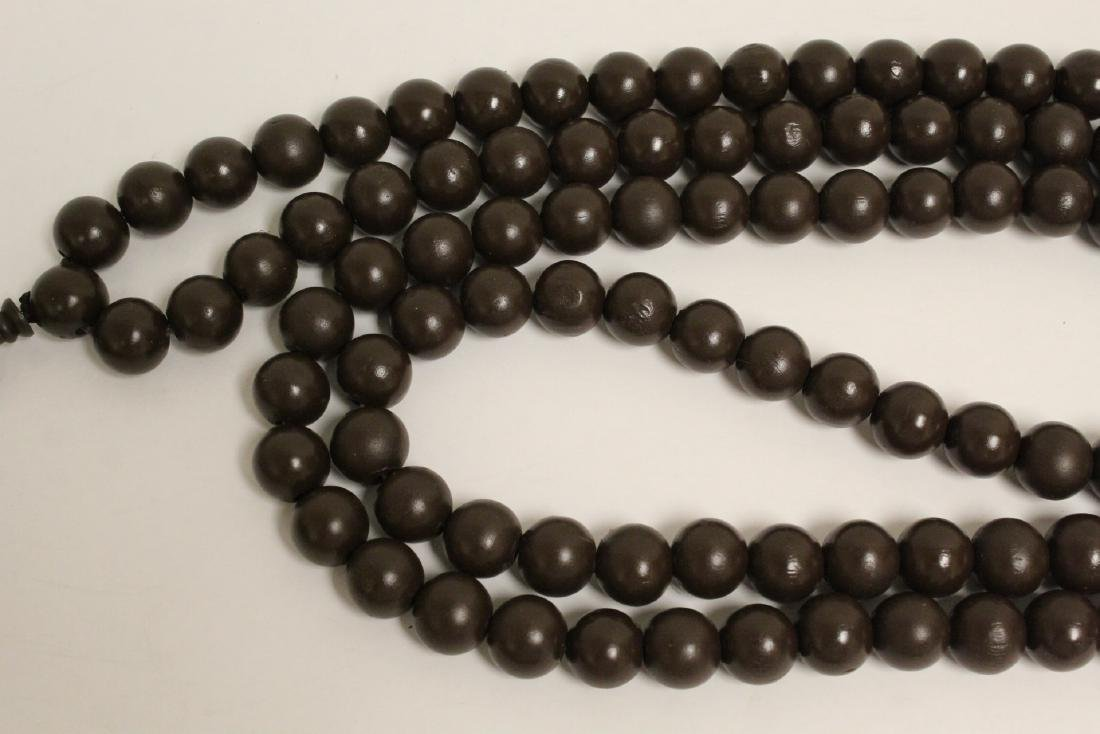 2 large wood bead and very long necklaces - 7