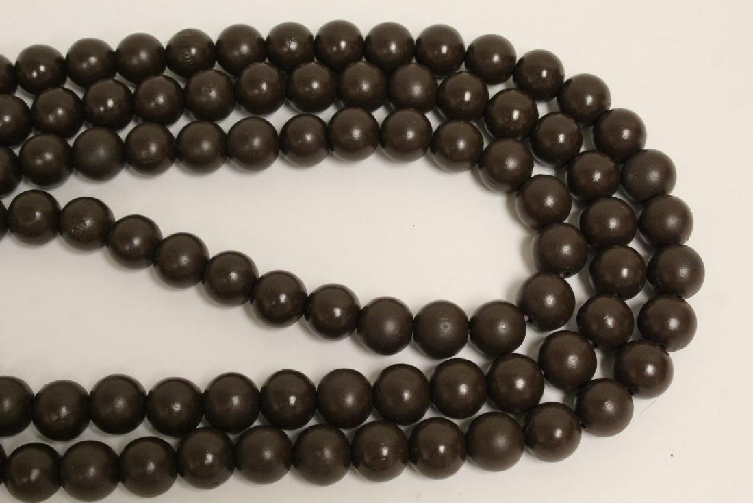 2 large wood bead and very long necklaces - 8
