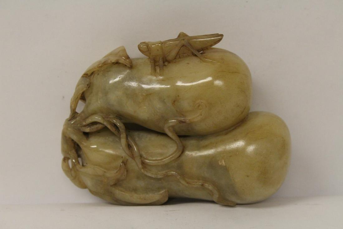 Large jade carved fruit - 2
