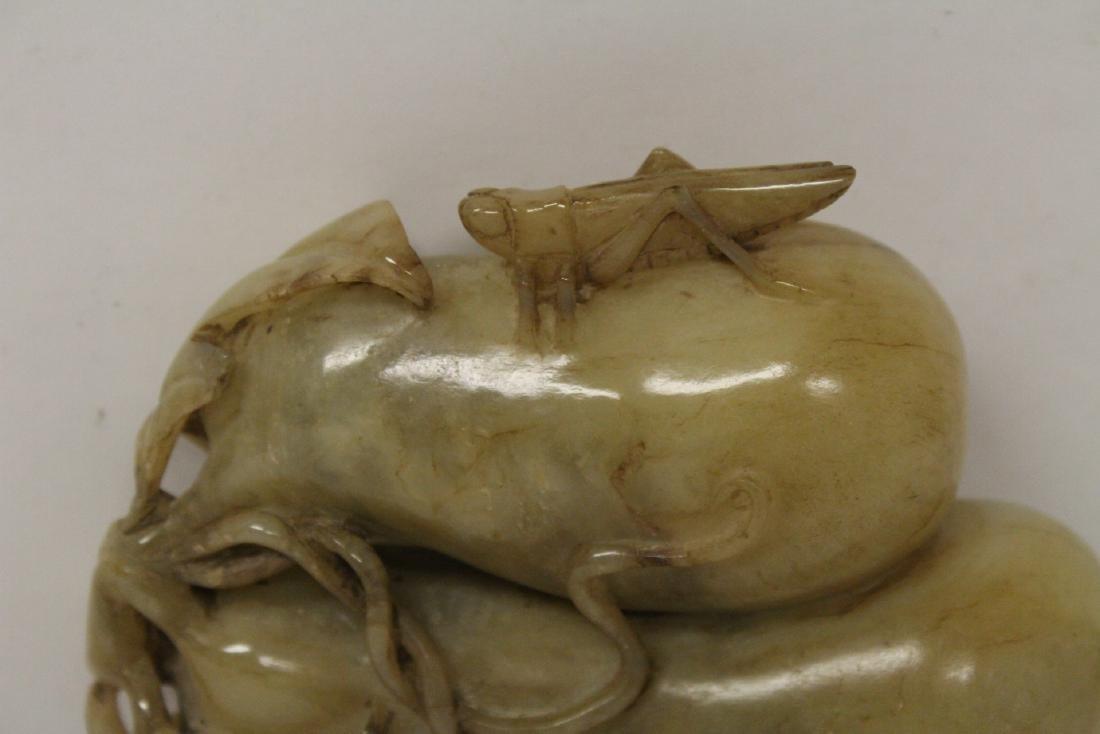 Large jade carved fruit - 3