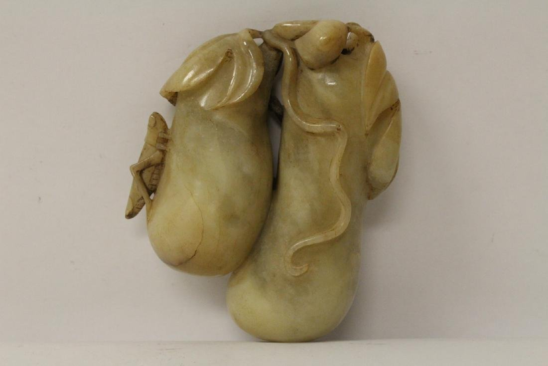 Large jade carved fruit - 4