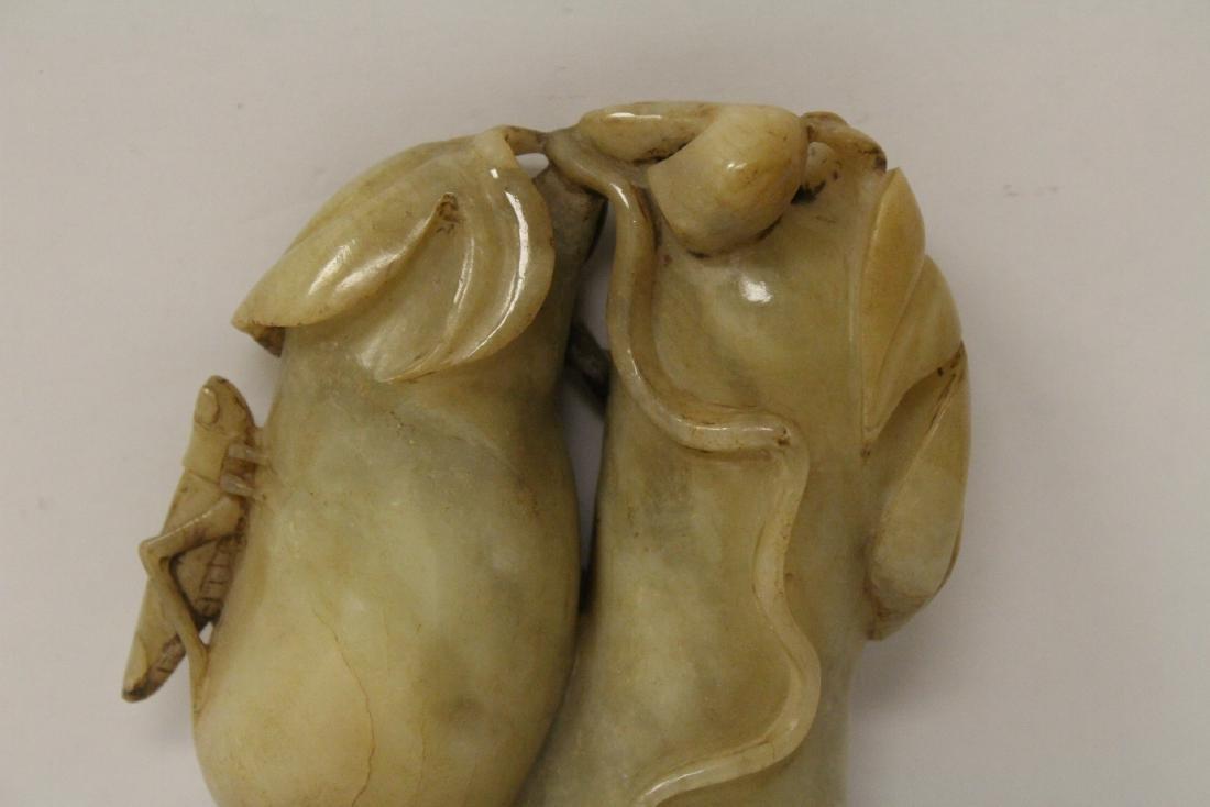Large jade carved fruit - 5