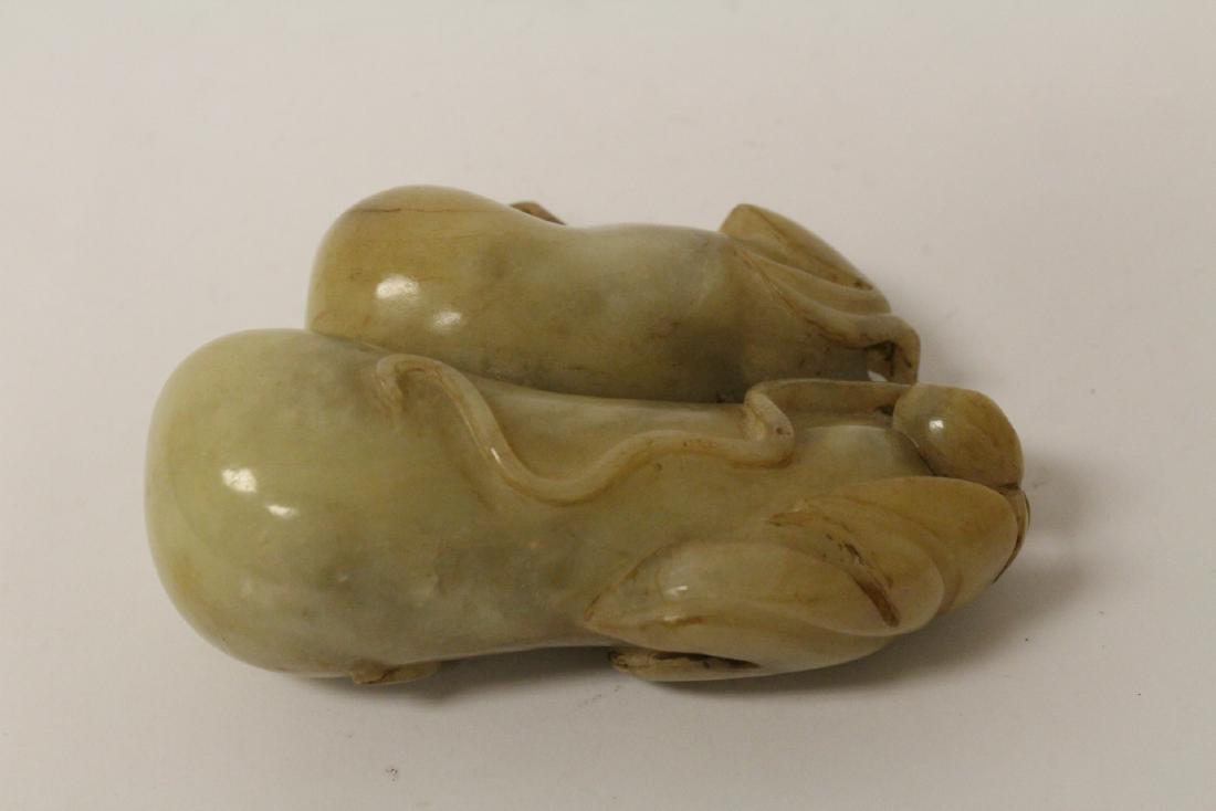 Large jade carved fruit - 7