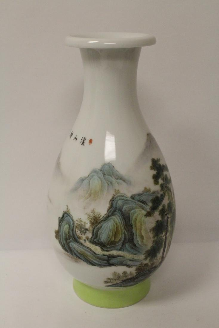 A beautiful Chinese famille rose porcelain vase - 5