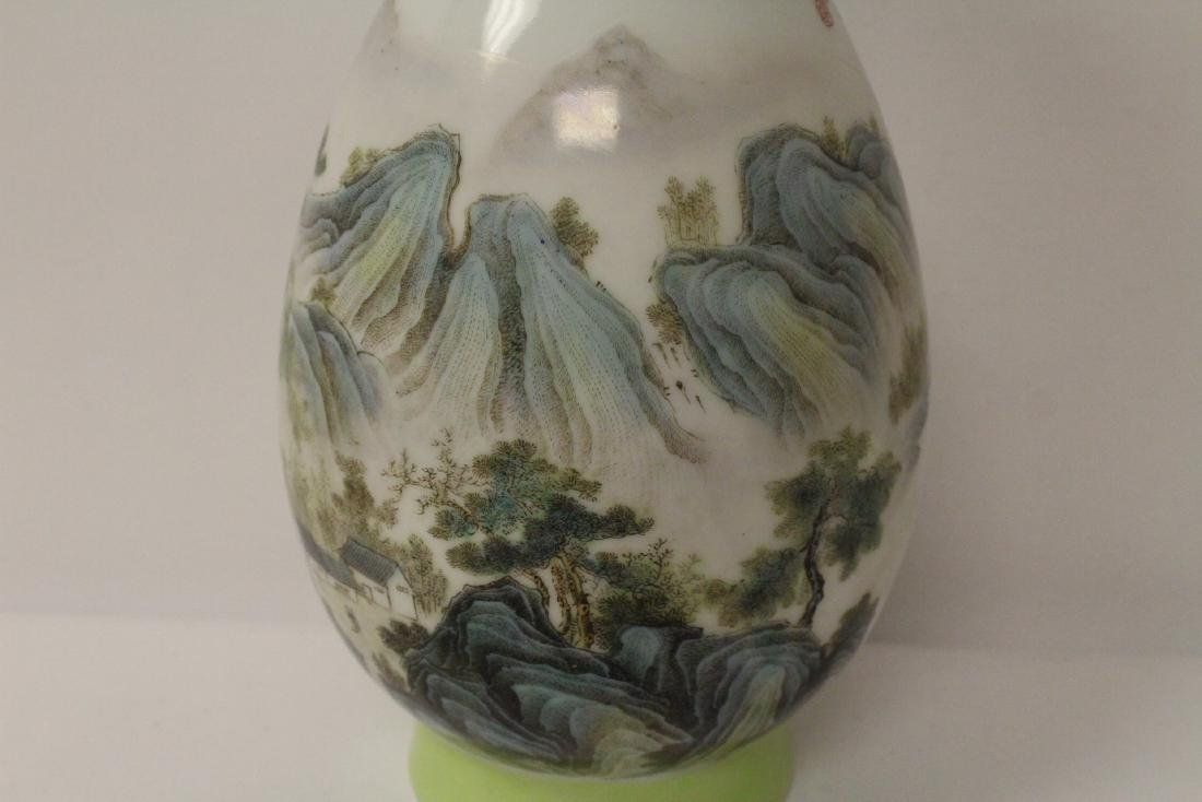 A beautiful Chinese famille rose porcelain vase - 8
