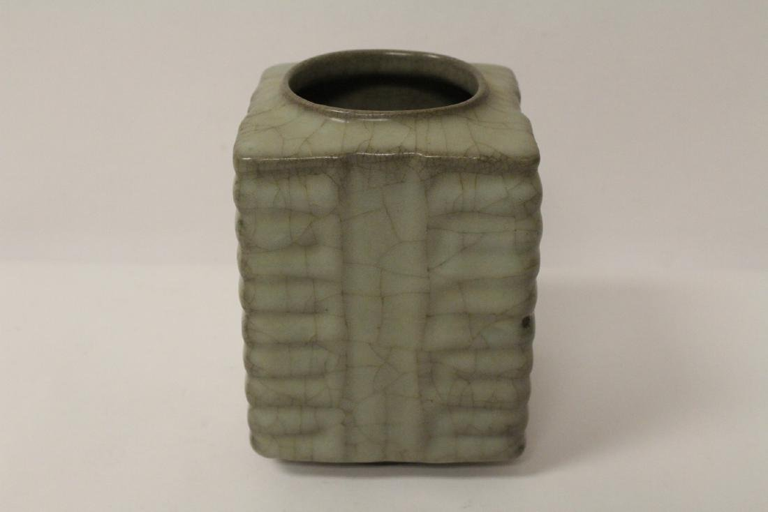 Chinese crackleware porcelain vase - 3