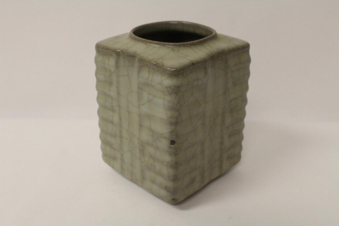 Chinese crackleware porcelain vase - 4