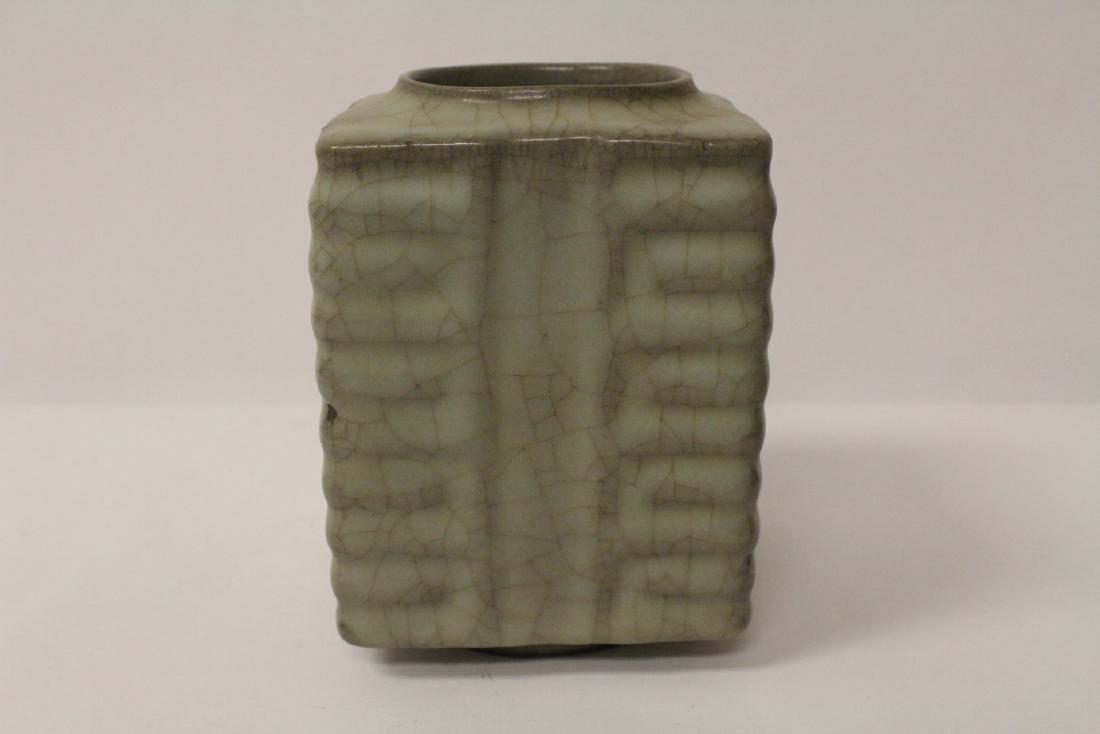 Chinese crackleware porcelain vase - 5