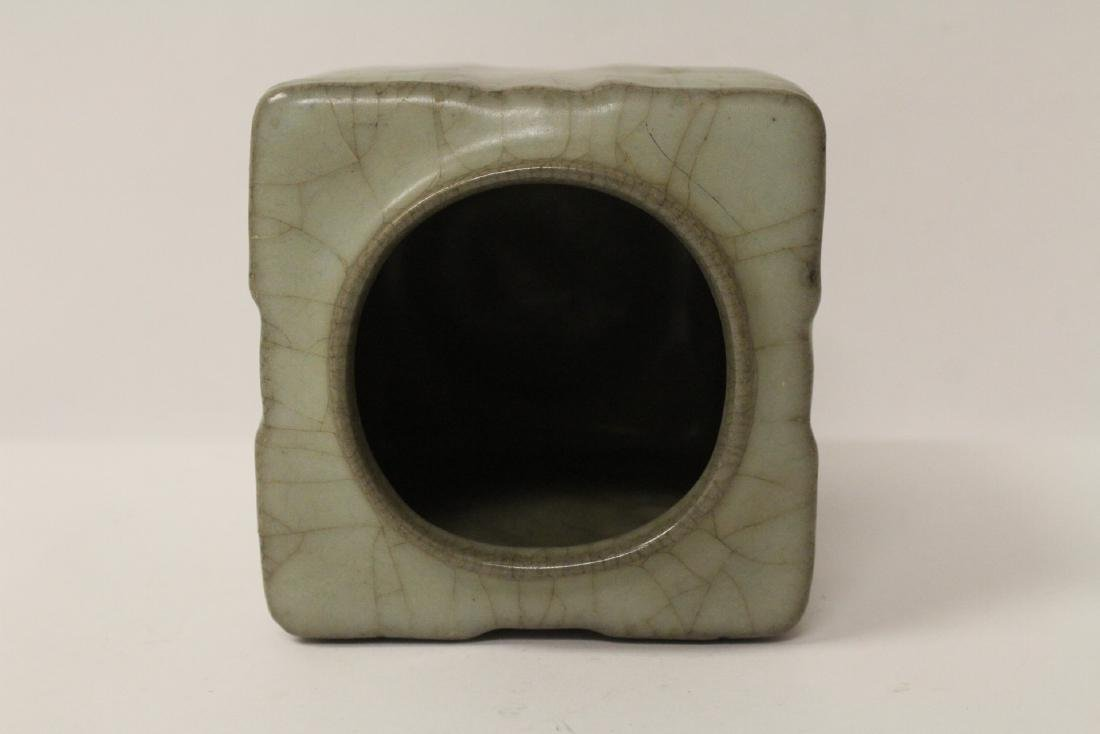 Chinese crackleware porcelain vase - 8