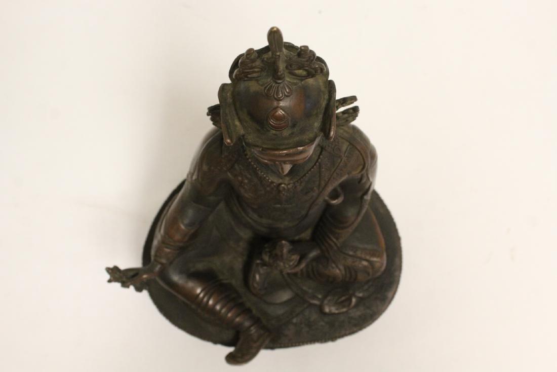 Chinese bronze sculpture of seated Buddha - 5