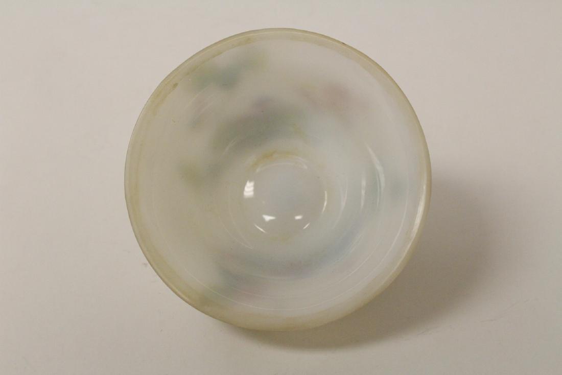 Chinese enamel on Peking glass bowl - 8