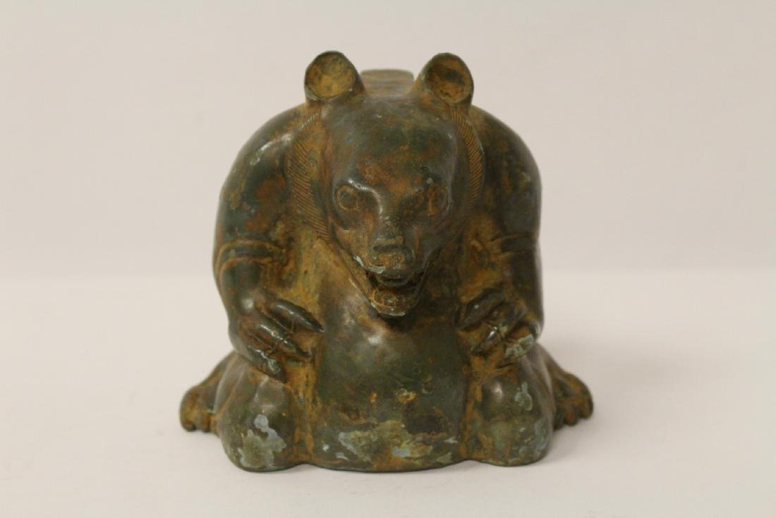 Unusual Chinese bronze censer in the form of beast