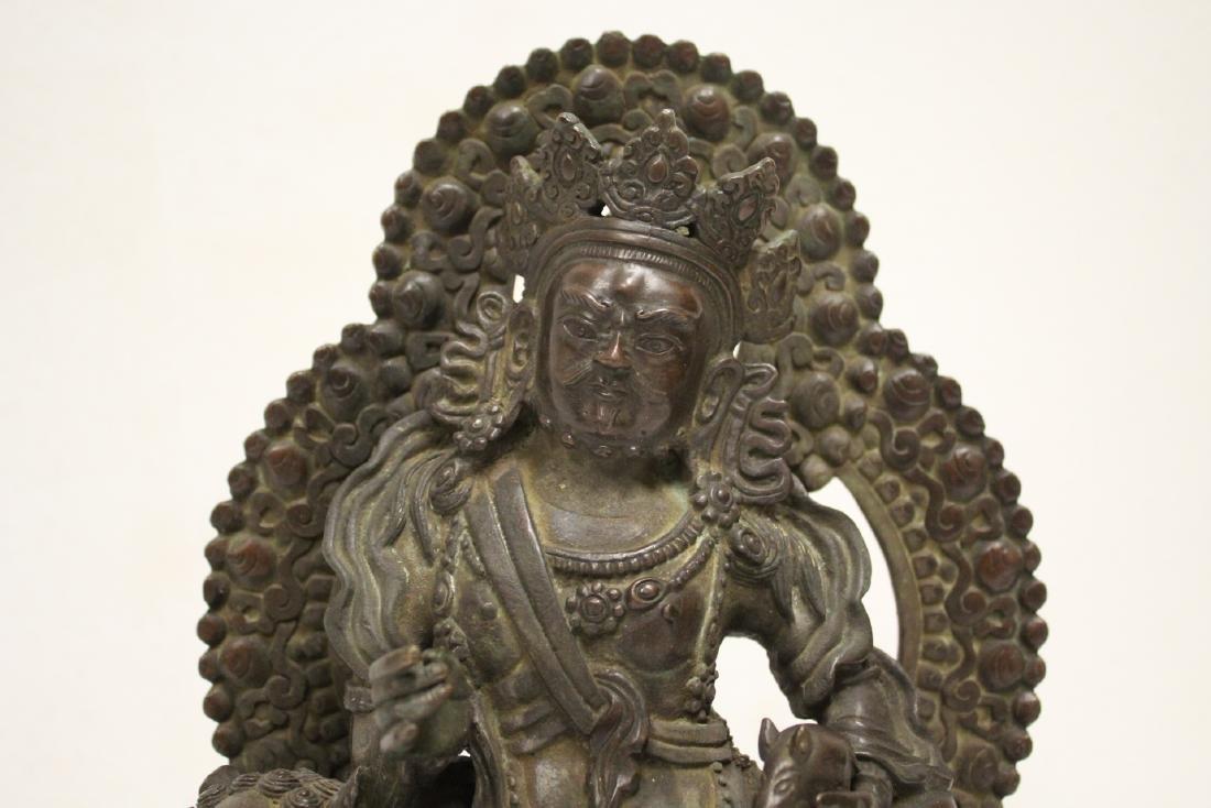 Chinese bronze sculpture of seated Buddha - 6