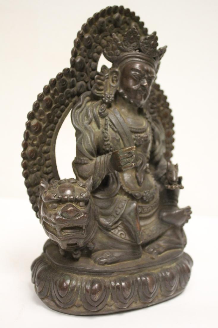 Chinese bronze sculpture of seated Buddha - 8