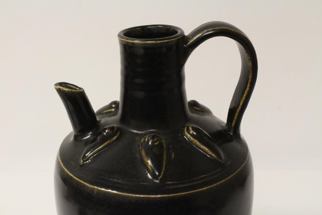 Chinese brown glazed wine server - 7
