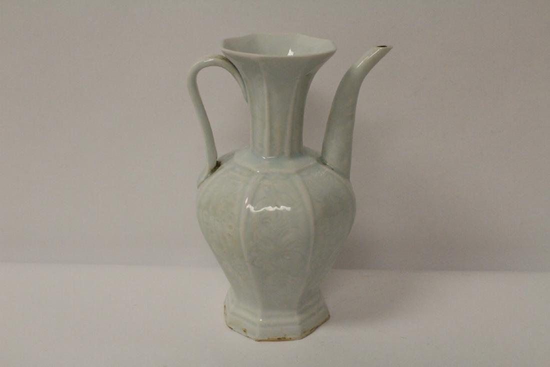 Chinese Song style sky blue porcelain wine server - 4