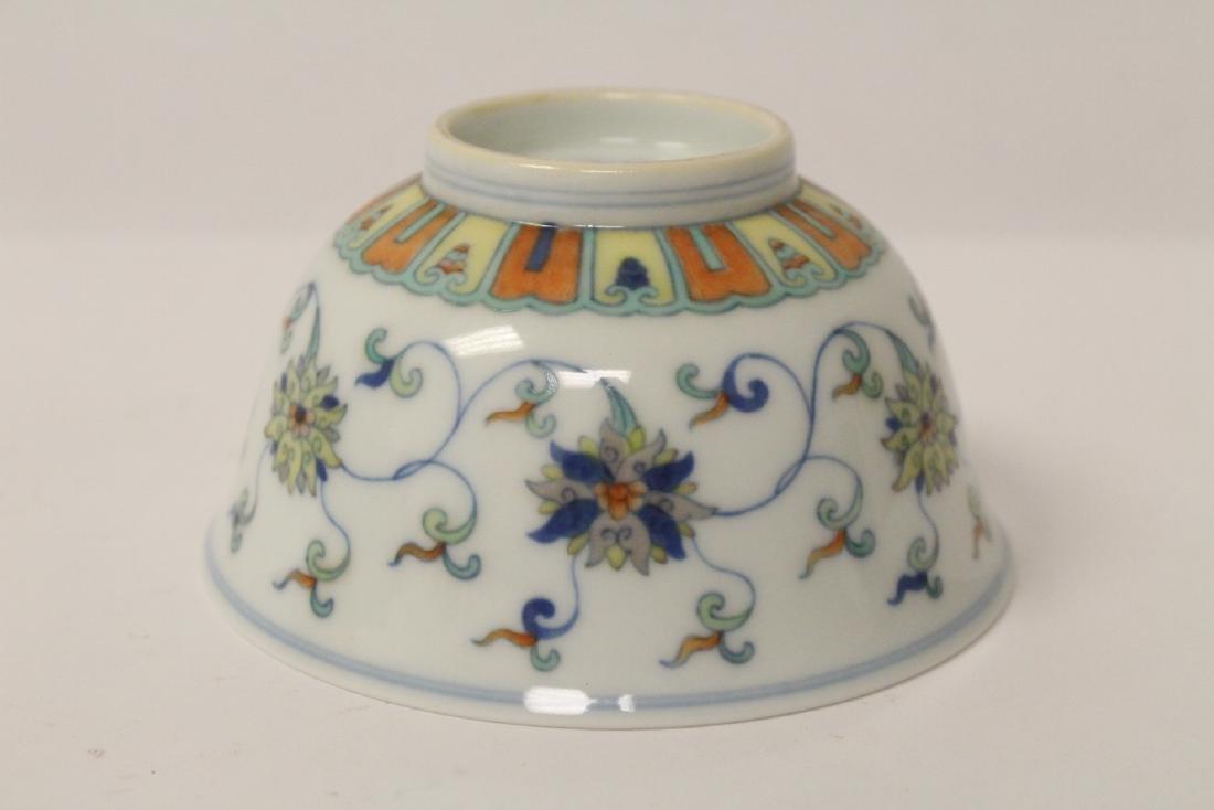 Chinese wucai porcelain bowl - 9