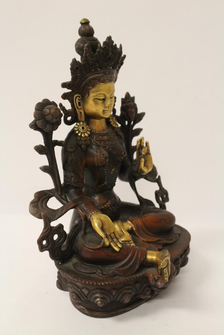 Chinese bronze sculpture of seated Buddha - 10