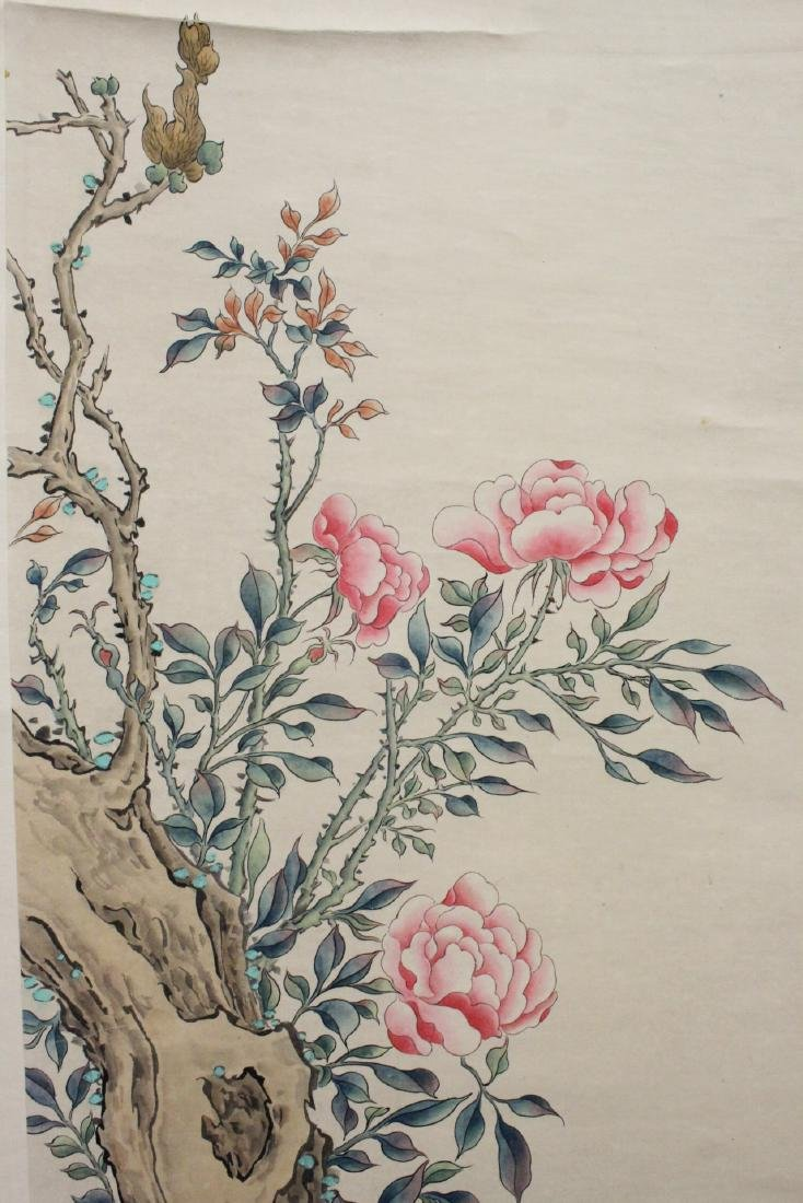 "Chinese watercolor scroll ""flowers"" - 6"