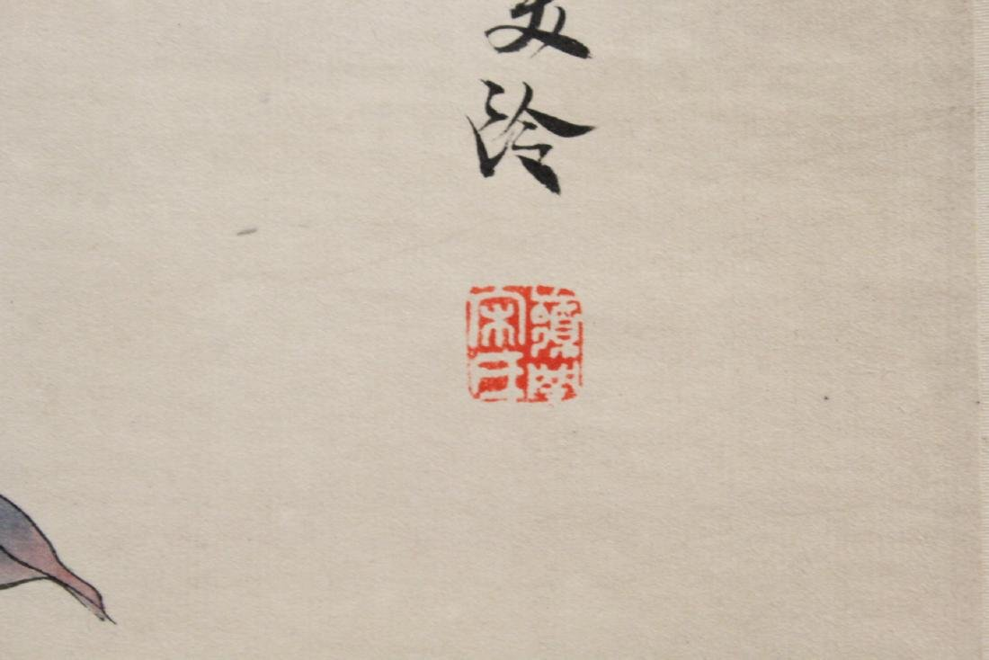 """Chinese watercolor scroll """"flowers"""" - 9"""