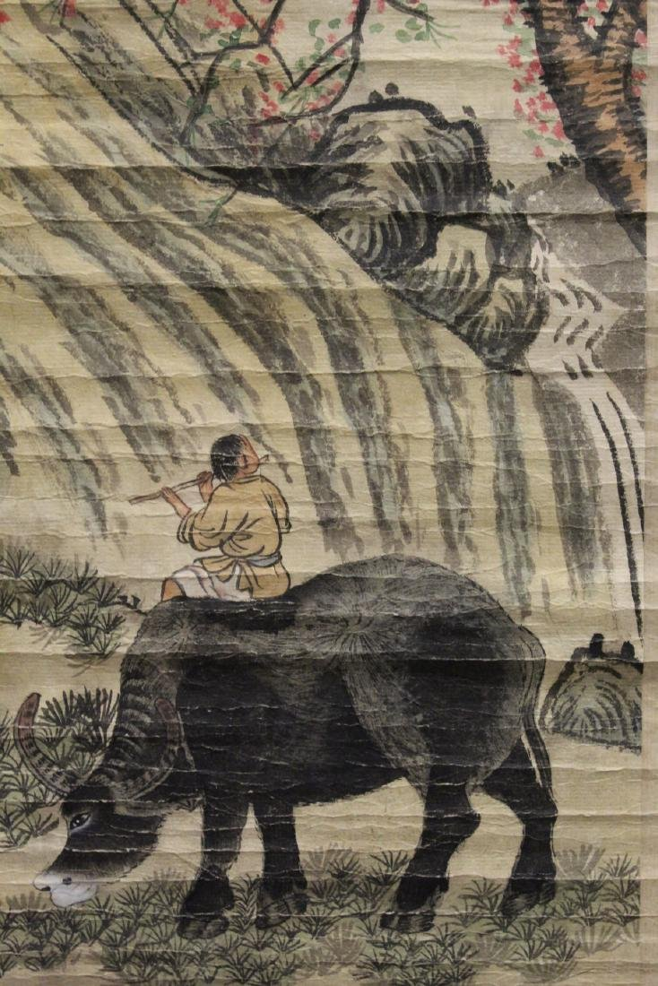 2 Chinese watercolor scrolls - 10