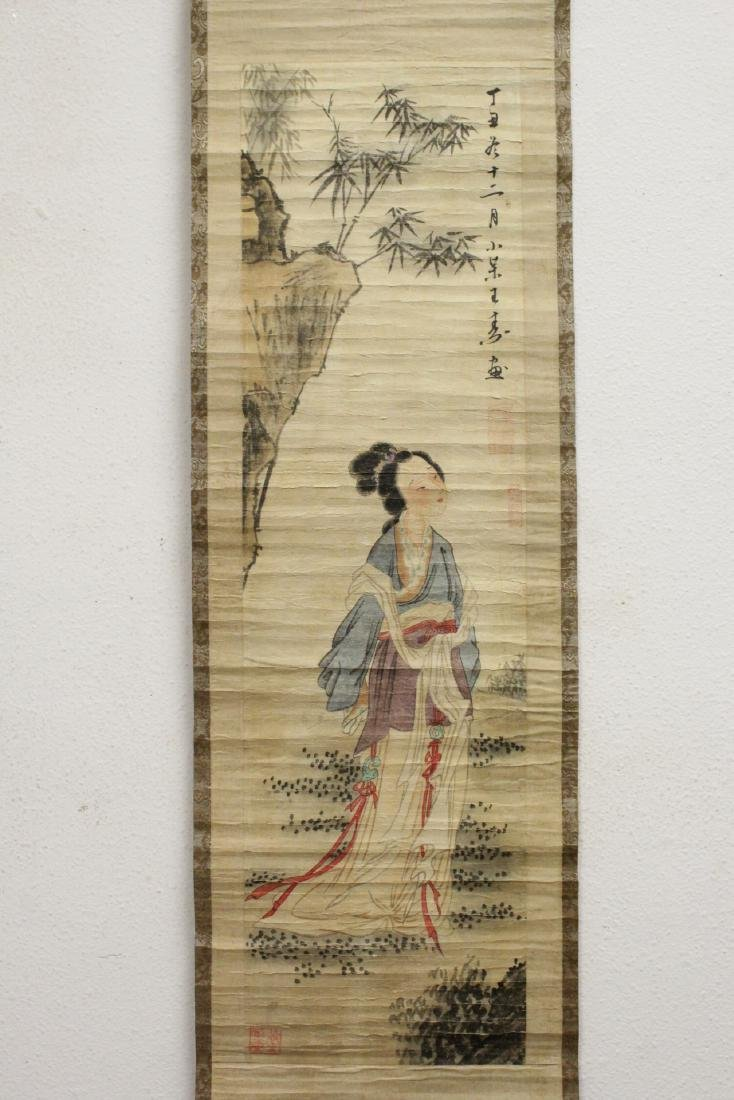 2 Chinese watercolor scrolls - 2