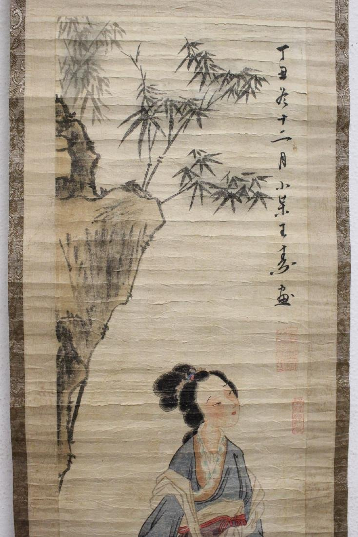 2 Chinese watercolor scrolls - 3