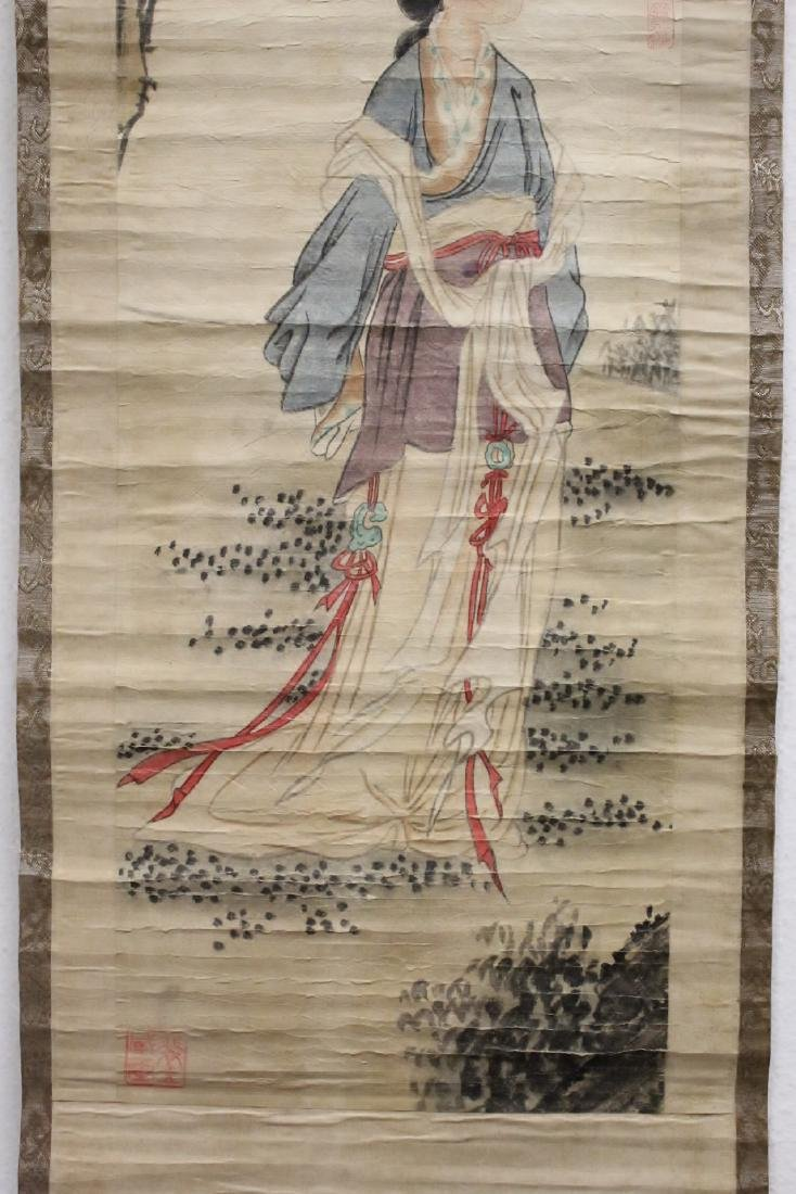 2 Chinese watercolor scrolls - 4
