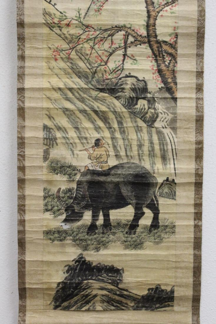 2 Chinese watercolor scrolls - 8