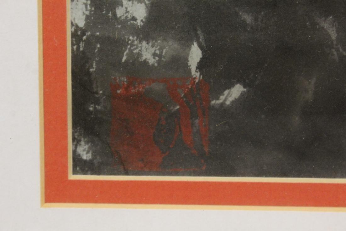 """Framed watercolor """"landscape"""" - 10"""