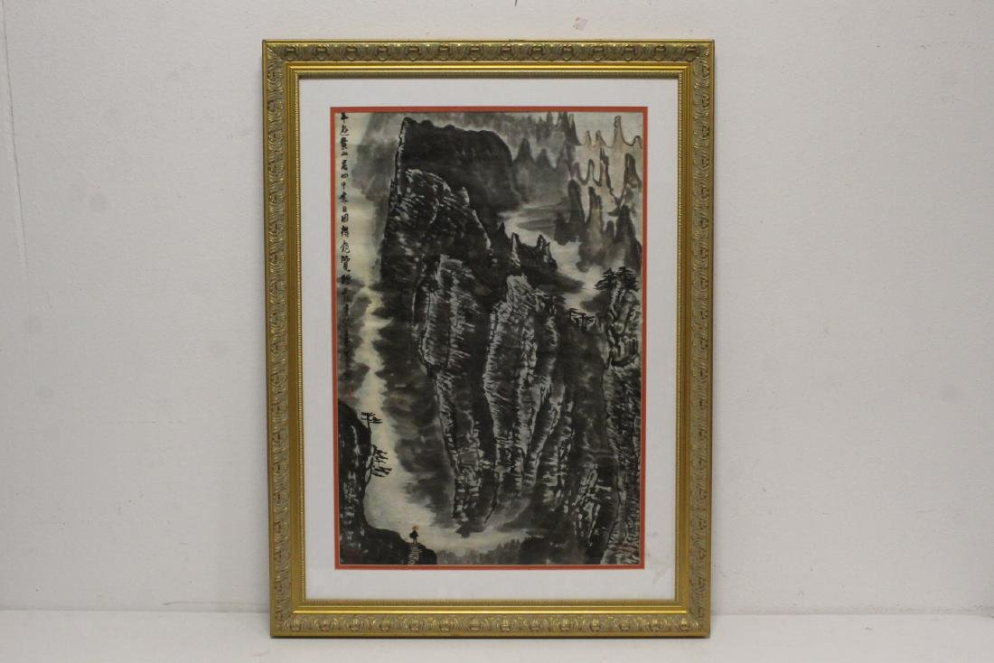 """Framed watercolor """"landscape"""""""