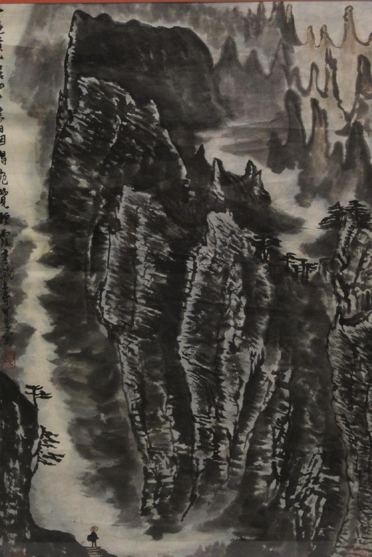 """Framed watercolor """"landscape"""" - 3"""