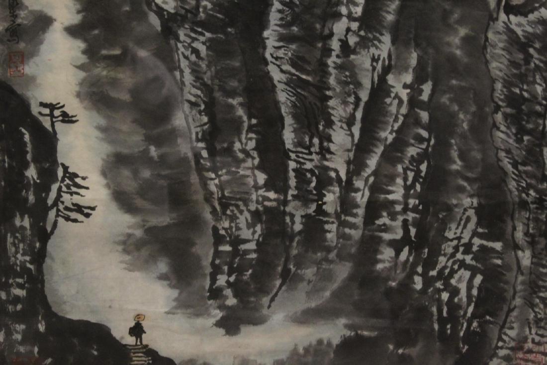 """Framed watercolor """"landscape"""" - 4"""