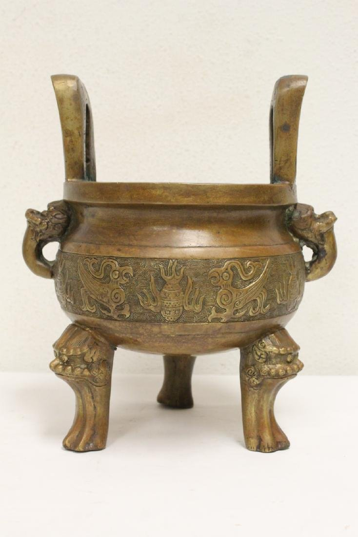 2 Chinese bronze/brass censers - 2