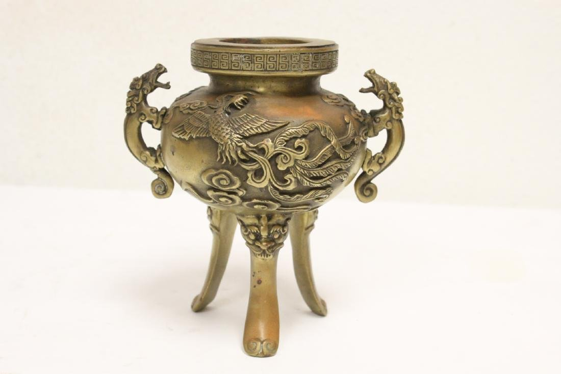 2 Chinese bronze/brass censers - 7