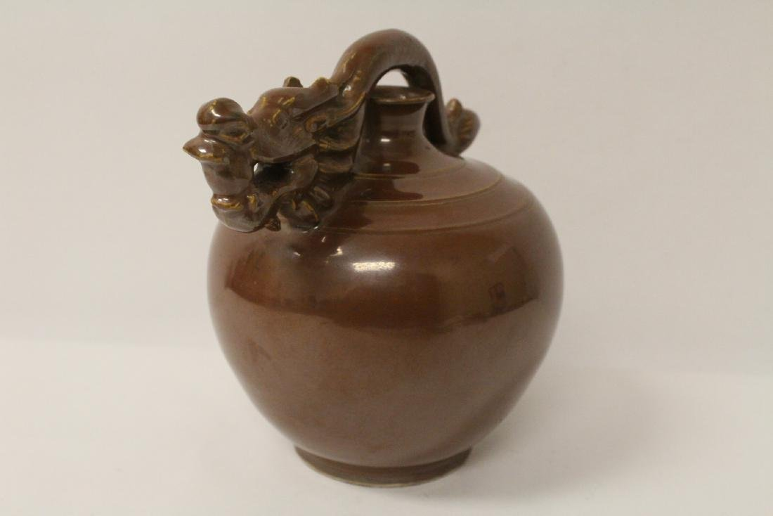 Song style brown glazed wine server - 4