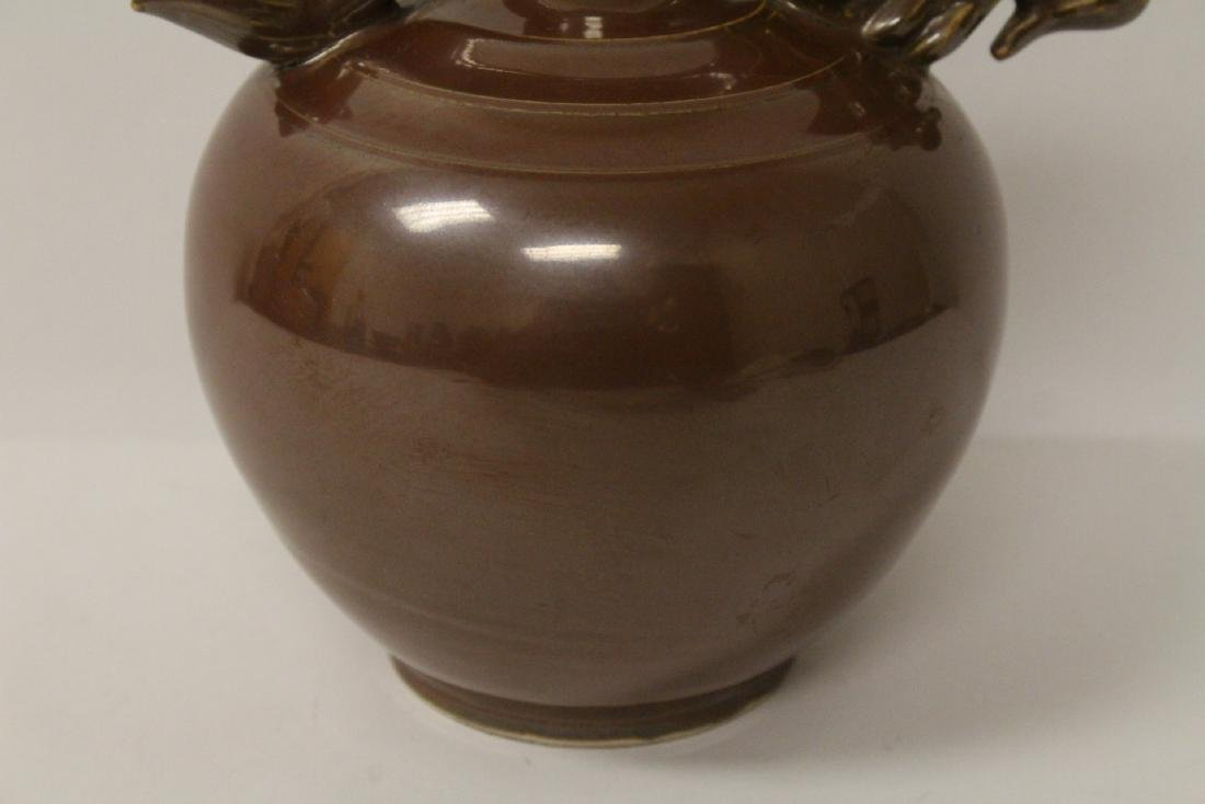 Song style brown glazed wine server - 8