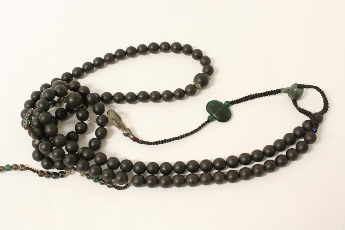 Wood bead necklace - 10