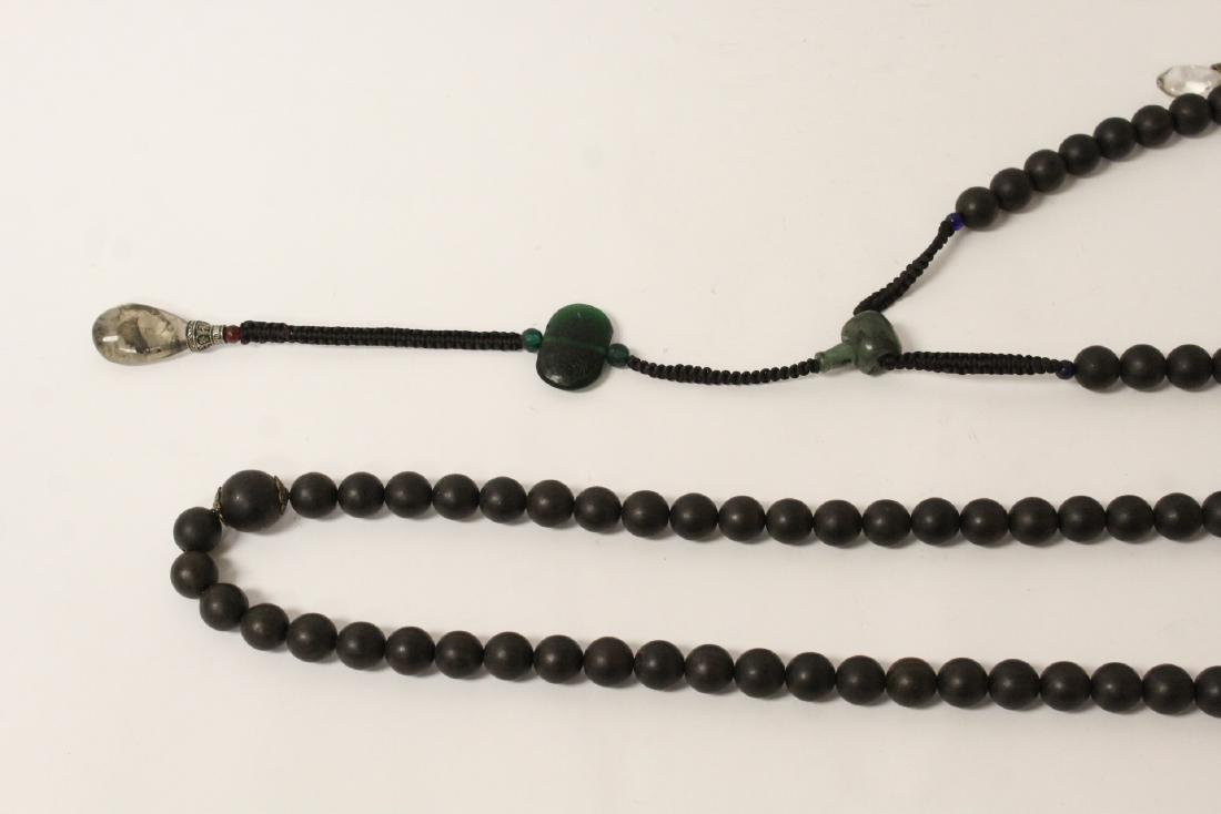 Wood bead necklace - 2