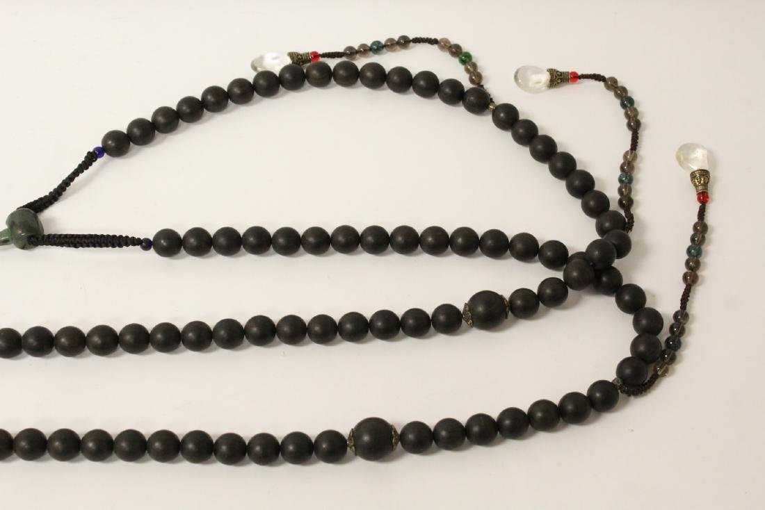 Wood bead necklace - 3